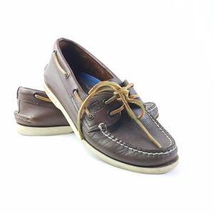 Sperry Top sider brown leather mens boat Shoes 7.5